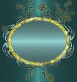 μπλε floral ανασκόπησης Στοκ εικόνα με δικαίωμα ελεύθερης χρήσης