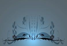 μπλε floral ανασκόπησης Στοκ φωτογραφία με δικαίωμα ελεύθερης χρήσης