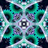 Μπλε Floral αφηρημένη ανασκόπηση Στοκ Εικόνα