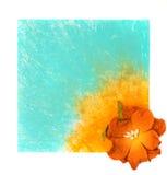μπλε floral λουλούδι ανασκόπ&e Στοκ φωτογραφίες με δικαίωμα ελεύθερης χρήσης
