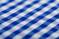 μπλε gingham ανασκόπησης Στοκ Εικόνες