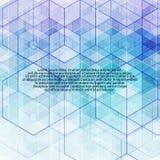 Μπλε hexagons γεωμετρικό σύγχρονο σχέδιο υποβάθρου 10 eps διανυσματική απεικόνιση