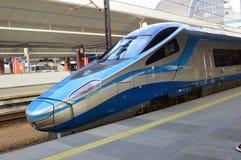Μπλε intercity τραίνο Βαρσοβία μύτης σφαιρών στην Κρακοβία στοκ φωτογραφία με δικαίωμα ελεύθερης χρήσης