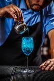 Μπλε laguna κοκτέιλ Στοκ εικόνα με δικαίωμα ελεύθερης χρήσης