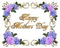 μπλε lavender ημέρας καρτών τριαντάφυλλα μητέρων