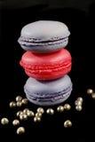 μπλε macaroons ροζ Στοκ εικόνα με δικαίωμα ελεύθερης χρήσης