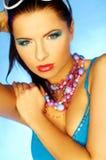μπλε makeup Στοκ φωτογραφίες με δικαίωμα ελεύθερης χρήσης