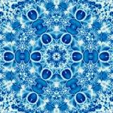 Μπλε mandala κεραμιδιών μαρινών με την επίδραση της κεντητικής arabesque Στοκ εικόνα με δικαίωμα ελεύθερης χρήσης