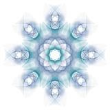μπλε mandala Στοκ Εικόνα