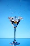 μπλε martini παφλασμός Στοκ Φωτογραφία