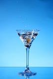 μπλε martini παφλασμός Στοκ φωτογραφία με δικαίωμα ελεύθερης χρήσης