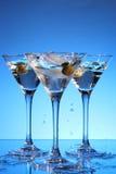 μπλε martini παφλασμός Στοκ Εικόνες