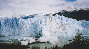 μπλε perito του Moreno παγετώνων της Αργεντινής Στοκ Εικόνες