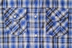 Μπλε Plaid ταρτάν τσέπη Στοκ φωτογραφία με δικαίωμα ελεύθερης χρήσης