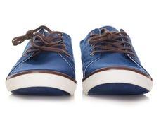 μπλε plimsolls Στοκ φωτογραφία με δικαίωμα ελεύθερης χρήσης