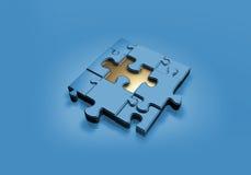 μπλε quizz Στοκ εικόνα με δικαίωμα ελεύθερης χρήσης