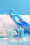 μπλε relaxation spa Στοκ Εικόνα