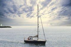 Μπλε sailboat Στοκ Φωτογραφία