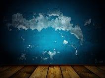 μπλε scary τρύγος ανασκόπησης Στοκ Εικόνες