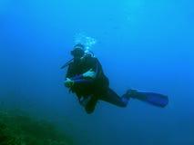 μπλε sipadan ύδωρ δυτών του Μπόρνεο στοκ εικόνα