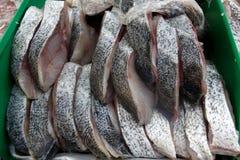 Μπλε snapper μπριζόλα στον πάγο στην αγορά ψαριών Στοκ φωτογραφία με δικαίωμα ελεύθερης χρήσης