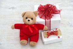 μπλε snowflake αγορών πώλησης Χριστουγέννων τσαντών ριγωτό Στοκ φωτογραφία με δικαίωμα ελεύθερης χρήσης