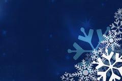μπλε snowflake ανασκόπησης Στοκ εικόνα με δικαίωμα ελεύθερης χρήσης