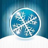 μπλε snowflake εικονιδίων Στοκ εικόνα με δικαίωμα ελεύθερης χρήσης