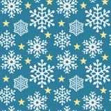 μπλε snowflake προτύπων Στοκ Εικόνα