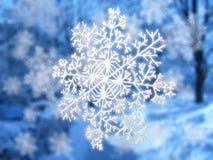 μπλε snowflake τοπίων Στοκ φωτογραφία με δικαίωμα ελεύθερης χρήσης