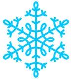 μπλε snowflake Χριστούγεννα Στοκ Φωτογραφίες