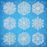 μπλε snowflakes ανασκόπησης Στοκ φωτογραφίες με δικαίωμα ελεύθερης χρήσης