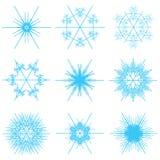 μπλε snowflakes κολάζ διανυσματική απεικόνιση