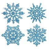 Μπλε snowflakes Στοκ Φωτογραφίες