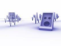 μπλε soundwave Στοκ Εικόνες