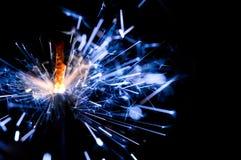 μπλε sparkler Στοκ εικόνα με δικαίωμα ελεύθερης χρήσης