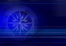 μπλε techbackground windrose Στοκ φωτογραφία με δικαίωμα ελεύθερης χρήσης