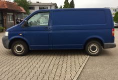 μπλε truck παράδοσης Στοκ Εικόνα