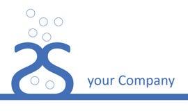 μπλε vase λογότυπων επιχείρησης Στοκ Φωτογραφία