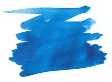 μπλε watercolor κτυπήματος χρωμάτων Στοκ Φωτογραφίες