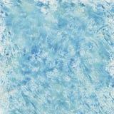μπλε watercolor παφλασμών Στοκ Φωτογραφίες