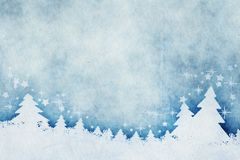 Μπλε watercolors υποβάθρου Χριστουγέννων απεικόνιση αποθεμάτων