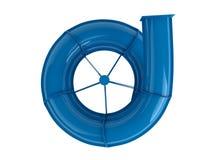 μπλε waterslide ελεύθερη απεικόνιση δικαιώματος