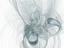 μπλε wisps κιρκιριών καπνού Ελεύθερη απεικόνιση δικαιώματος