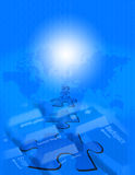 μπλε www Στοκ φωτογραφία με δικαίωμα ελεύθερης χρήσης