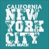 Μπλούζα Λος Άντζελες Καλιφόρνια, γραμματόσημο μπλουζών, αθλητικό σχέδιο ενδυμασίας διανυσματική απεικόνιση