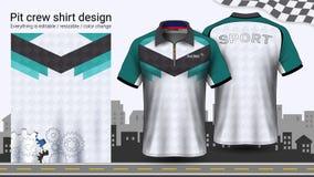 Μπλούζα πόλο με το φερμουάρ, πρότυπο προτύπων στολών αγώνα για την ενεργό ένδυση και αθλητική ενδυμασία ελεύθερη απεικόνιση δικαιώματος