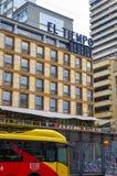 ΜΠΟΓΚΟΤΑ, ΚΟΛΟΜΒΙΑΣ - 11 ΟΚΤΩΒΡΙΟΥ, 2017: Άποψη Outdoore του κτηρίου tiempo EL που βρίσκεται μέσα κεντρικός στην πόλη της Μπογκοτ Στοκ Εικόνες