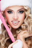μπορέστε να αλλάξετε eps Χριστουγέννων το καπέλο αρχείων σας έχει βάλει σε στρώσεις Στοκ Εικόνες