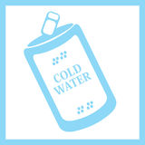 Μπορέστε να ποτίσετε σαν διανυσματικά κύματα στροβίλου ανασκόπησης διακοσμητικά γραφικά τυποποιημένα κρύο νερό Στοκ Εικόνα